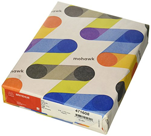 Mohawk BriteHue Multipurpose Colored Paper, 20 lb, 8-1/2 x 11 Inches, Red, 500 Sheets/Ream (MOW471608)