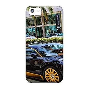 Hot Yellow Black Bugatti Hdr First Grade Phone Cases For Iphone 5c Cases Covers