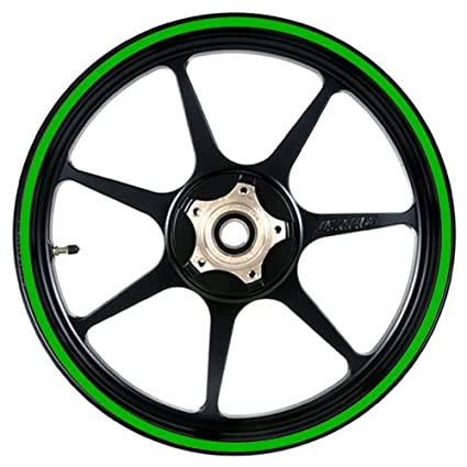 Bright Green 16 to 19 inch Motorcycle, Scooter, Car & Truck Wheel Rim Stripes 1/2' or 12.5mm Car & Truck Wheel Rim Stripes 1/2 or 12.5mm VehicleArtz