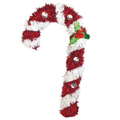 amscan Hanging Tinsel 3-D Candy Cane | Christmas Decoration