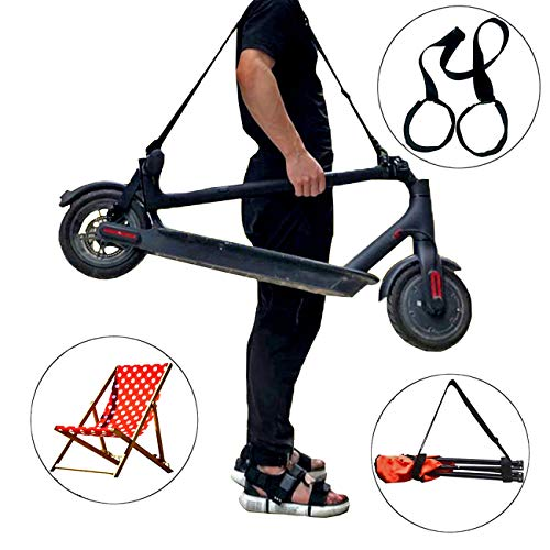 XJunion Adjustable Kick Scooter Shoulder Strap Kick Scooter Carrying Strap - No Further Damage to Your Back! No Scooter