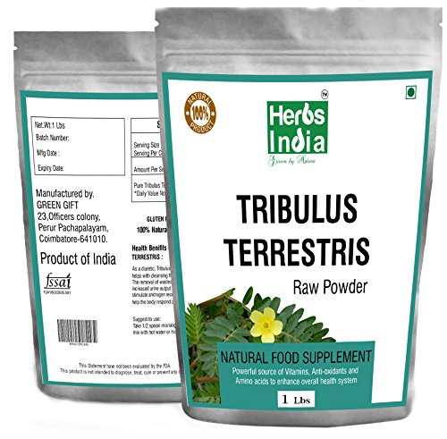 Tribulus Terrestris Powder 16 Oz. No Fillers All Natural Powder - Herbs India