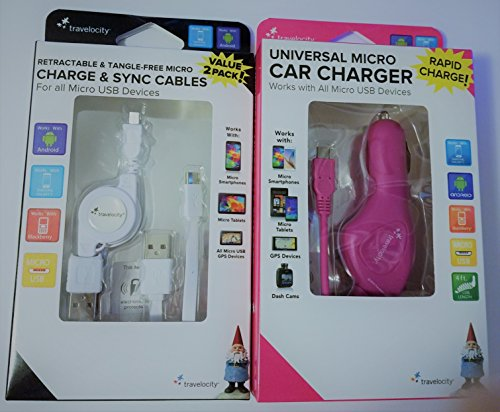 Click to buy Cell Phone Combination Pack Car Charger and Charge & Sync Cables - From only $9.08