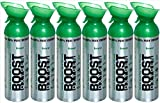 New and Larger, Boost Oxygen Natural Energy in a Can, New Large Size: 10 Liters over 200 One-Second Inhalations, 6 Pack