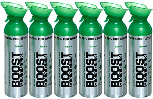 Boost Oxygen Natural 22 oz. Large Size 6 pack, Green, Large