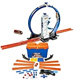 Bundle Includes 2 Items - Hot Wheels Workshop Track Builder Loop Launcher Track Extension and Hot Wheels Track Builder Stunt Box