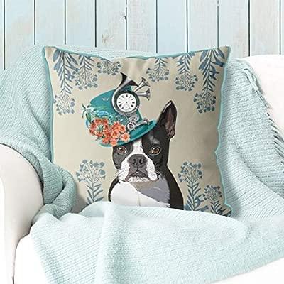 Ethelt5IV Boston Terrier Almohada Boston Terrier cojín Perro ...