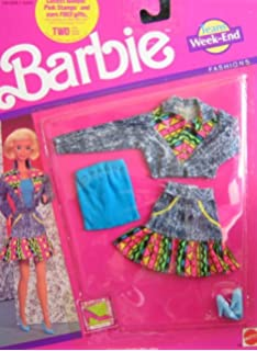 """Barbie Collectible Fashion Card  /"""" Barbie Jeans Fashions /""""  1989"""