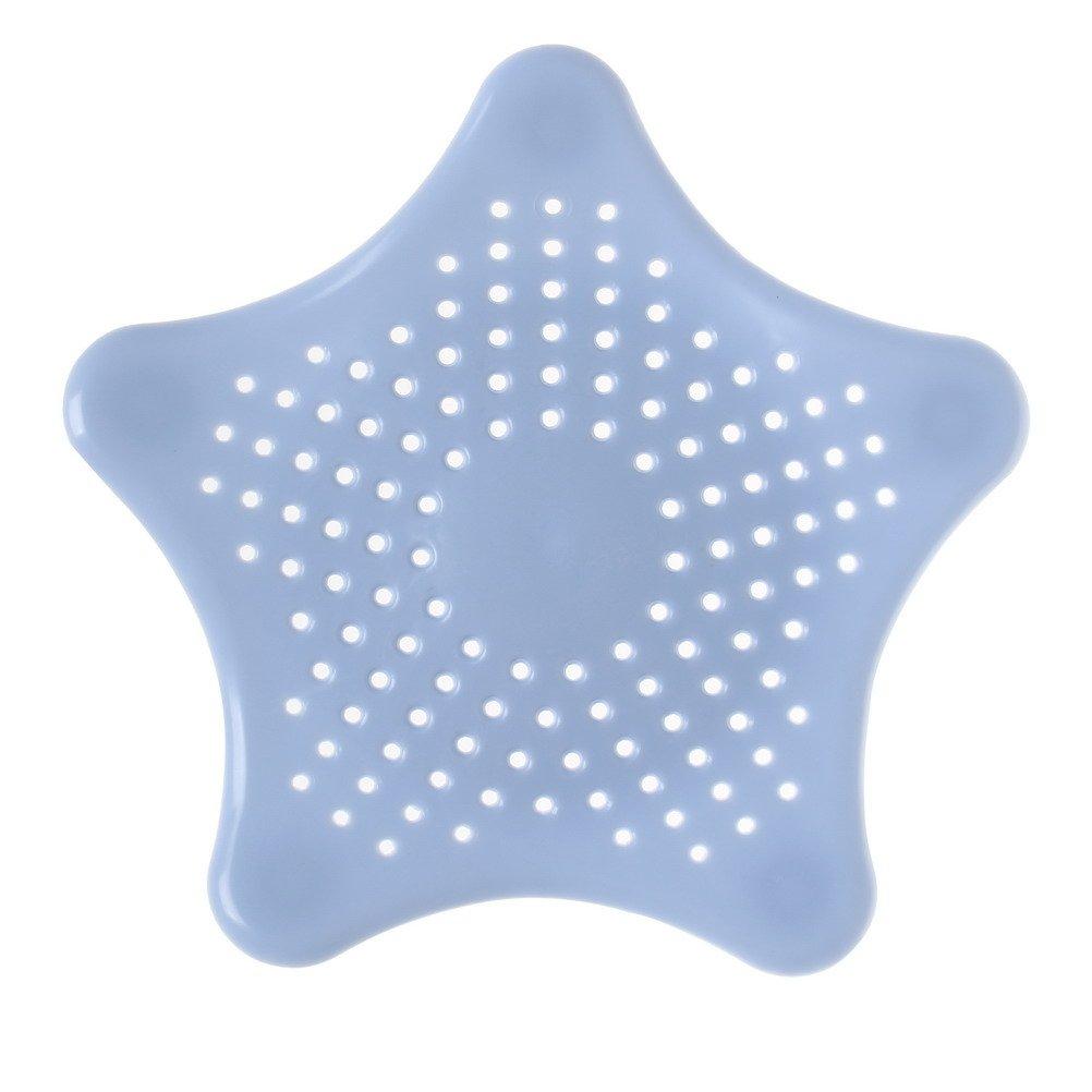Sumaju, filtro di scarico cattura capelli per lavandino o vasca, per la cucina o bagno Blue