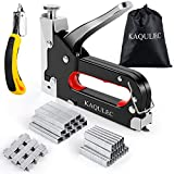 2020 Upgraded Staple Gun, 3 in 1 Staple Gun Kit with 3000 Staples and Stapler Remover Adjustable Heavy Duty Stapler for Wood Upholstery Crafts Cable Wire Fixing Material Furniture Decoration