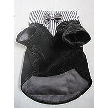 Vedem Pet Dog Cat Pet Formal Cotton Tuxedo Costume Clothes with Bowtie (L, Black)