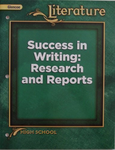 Literature - Success in Writing: Research and Reports (High School)