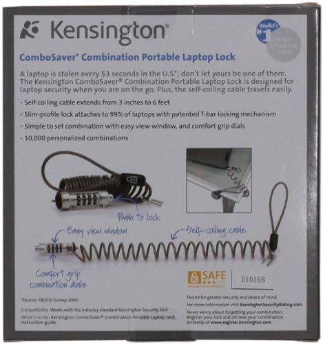 Kensington K64560US ComboSaver Portable Notebook Computer Lock