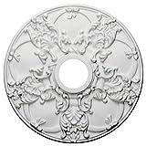 Ekena Millwork CM18NO 18-Inch OD x 3 1/2-Inch ID x 1 3/8-Inch Norwich Ceiling Medallion