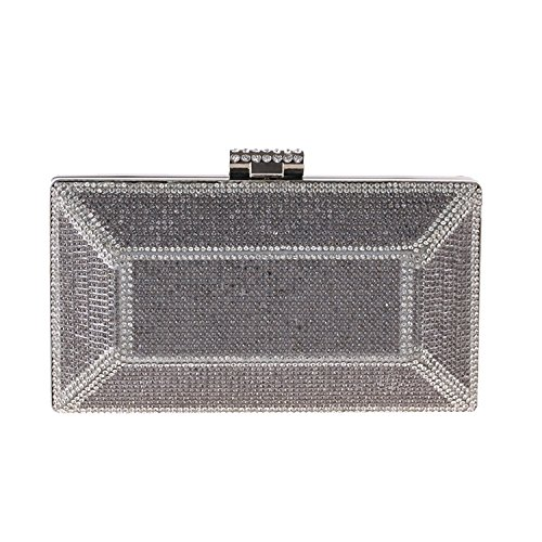 bag Silver banquet rhinestone dress bag evening clutch High evening grade Wallets OAvwq