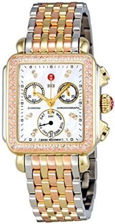 3cb1d210d Image Unavailable. Image not available for. Color: Michelle Deco Day Mother  of Pearl Dial Diamond Bezel Ladies Watch MWW06P000077. MICHELE