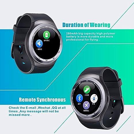 SmartWatch Y1 Solo inglés Bluetooth reloj inteligente con cámara, TF / tarjeta SIM ranura Sleep monitor / podómetro / alarma / Fotografía /sedentario ...