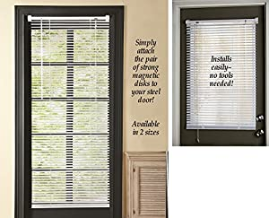 Amazoncom Magnetic Window Blinds White 25 X 68 Home Kitchen