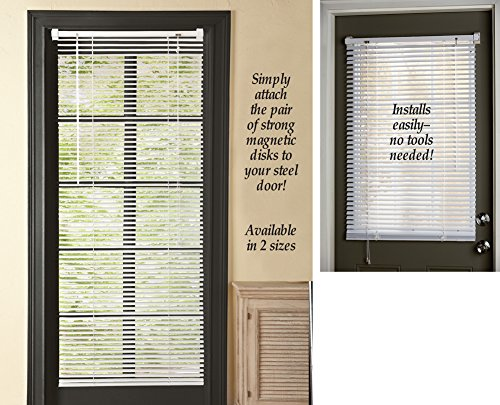 (Magnetic Window Blinds White 25