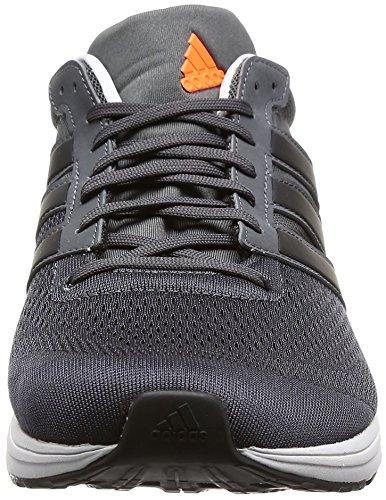Adidas Mens Adizero Boston M, Grigio / Nero / Arancio / Bianco Grigio / Nero / Arancio / Bianco