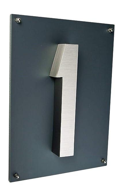 número de casa/placa acero inoxidable V2 A, New Diseño 3d de ...