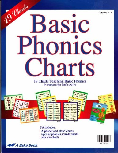 Basic Phonics Charts A Beka Book AmazonCom Books