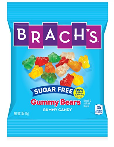 Brach's Sugar Free Gummy Bears Candy, 3 Ounce Bag, Pack of 12