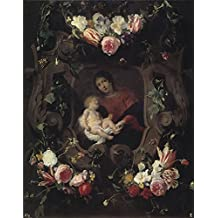 Perfect Effect Canvas ,the Cheap But High Quality Art Decorative Art Decorative Prints On Canvas Of Oil Painting 'Seghers Daniel Schut Cornelis Guirnalda Con La Virgen Y El Nino 17 Century ', 20 X 25 Inch / 51 X 65 Cm Is Best For Kids Room Decoration And Home Decoration And Gifts