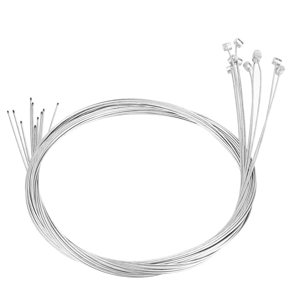 Tbest 10Pcs Bike Brake Cable Bicycle Braking Line Wire Repair Replacement Accessory for Mountain Road Bike - 2M Long