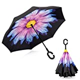 Double Layer Inverted Umbrella Windproof UV Protection Reverse folding Cars Reversible Umbrella by MY'S