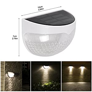 Wireless Solar Power Fence Light, ProGreen Outdoor Waterproof Solar Light Sensor Security Lights for Yard Wall Path Pool, Auto on/off (1 Pack, 6000K)