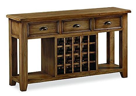Credenza Con Portabottiglie : Roseland furniture feock pino open credenza