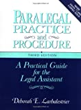 img - for Paralegal Practice & Procedure: A Practical Guide for the Legal Assistant book / textbook / text book
