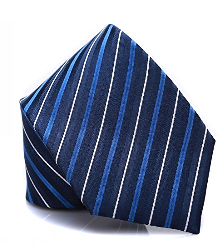 for with Striped Prettystern Men woven tie Classical silk Sk05 Dark pattern elegant Blue and wX8Xaqp