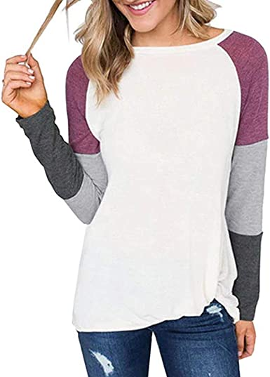 Course Camisa Mujer Manga Corta Raya Cuello Redondo Camiseta Básica Mujer Color Sólido Top Mujer Blusa Verano Mujer Manga Larga para Playa: Amazon.es: Ropa y accesorios