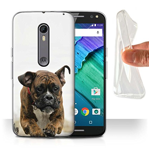 - STUFF4 Gel TPU Phone Case/Cover for Motorola Moto X Pure Edition/Boxer Design/Popular Dog/Canine Breeds Collection