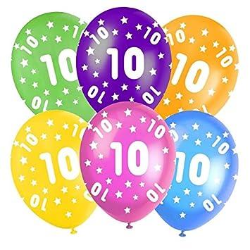 Multi Coloured Happy Birthday Assorted 12 Latex Balloons