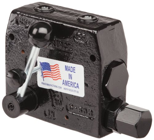 (Prince RDRS-150-16 Flow Control Valve, Adjustable Pressure Relief, Cast Iron, 3000 psi, 0-16 gpm, 1/2