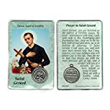 Saint St St. Gerard Prayer Card Holy Card Cards Patronage Patron Fertility with Medal
