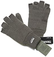 Warme Thinsulate Strickhandschuhe ohne Finger Fahrradhandschuh in Oliv oder...