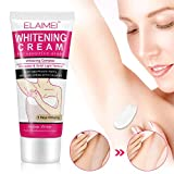 Natural Skin Whitening Cream- Lighten & Brighten Armpit, Bikini, Elbow, Private and Sensitive Areas- 60ML