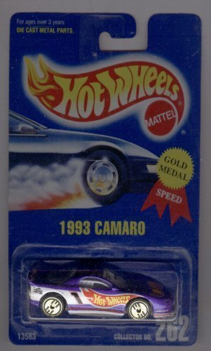 Hot Wheels Blue Card - Hot Wheels 1991-262 1993 Camaro All Blue Card 1:64 Scale