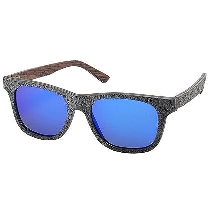 8d16313e1e Peggy Gu Gafas de sol de piedra hechas a mano de los hombres Forma cuadrada  Pierna ...