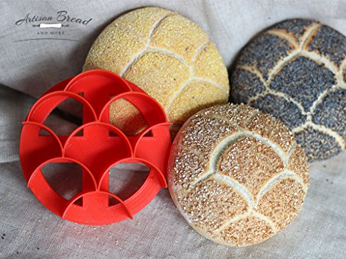 3.5″ Large Kaiser Roll Stamp with Fish Scale Pattern/Mermaid Concha Cutter