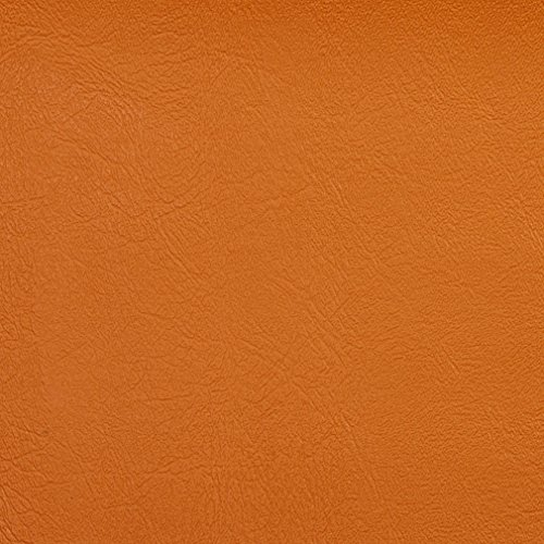 Tiger Lily Coral Orange Persimmon Leather Grain Plain Solid Vinyl Performance Grade Upholstery Fabric by The Yard (Drapes Tiger Lily)