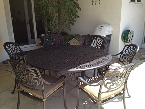 Heritage Outdoor Living Elisabeth Cast Aluminum 7pc Patio Dining Set with 60