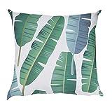 2019 Hot Sales Fashion Comfortable Pillow Cases,Makeupstore Green leaf Print Super Soft Plush Decorative Pillowcases for Sofa Car Cushion Cover Home Decor (18 x 18 Inch)