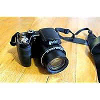 Sanyo VPC-E2100BK 14MP Digital Camera, 14MP, 21x zoom (25mm wide), 3 (460k) LCD, CCD Sensor Shift image stabilization, 720p HD v