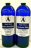 Cesium Liquid Ionic & Super Potassium High pH Therapy Minerals (32 oz)