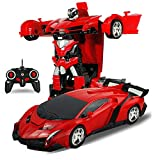 Robot RC Car Sports Transformation Model 2in1 Deformation Truck Fighting 1/18 Red